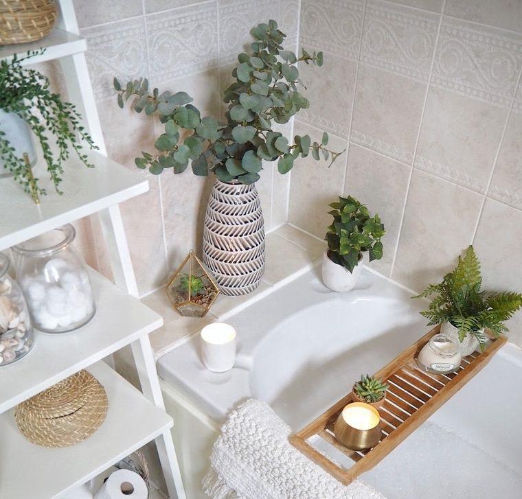 flores artificiales para decorar baños