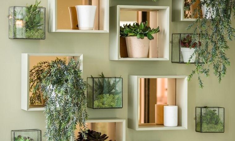 flores artificiales para decorar paredes