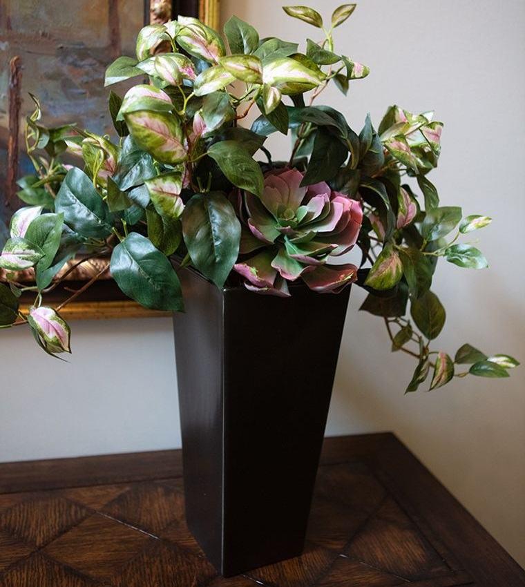 flores artificiales para decorar repisas