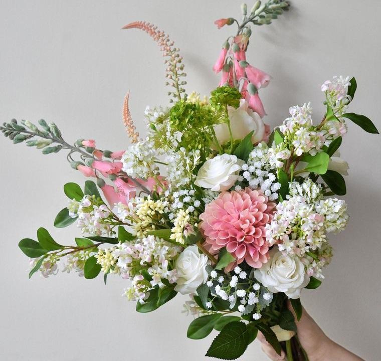 flores artificiales para hermosos arreglos