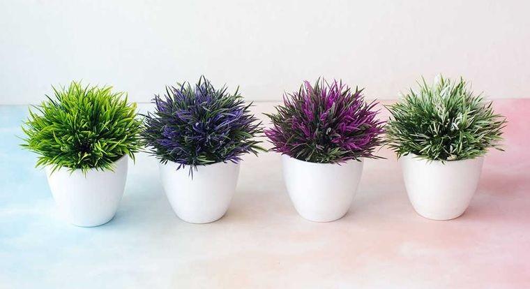 flores artificiales pequeñas para interiores