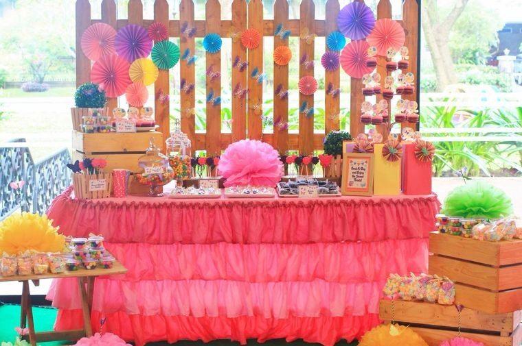 ideas para cumpleaños decoracion colorida verano