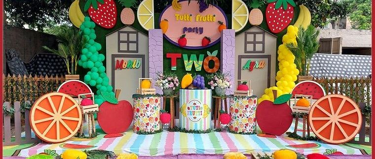 ideas para cumpleaños decoracion frutas verano