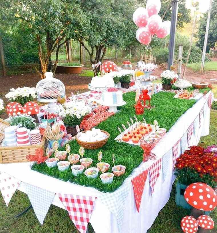 ideas para cumpleaños decoracion mesa en verano