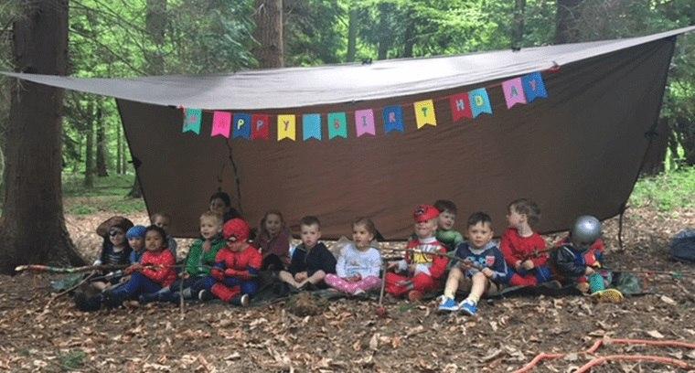 ideas para cumpleaños en bosque verano