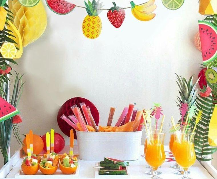 ideas para cumpleaños en verano con tema de frutas