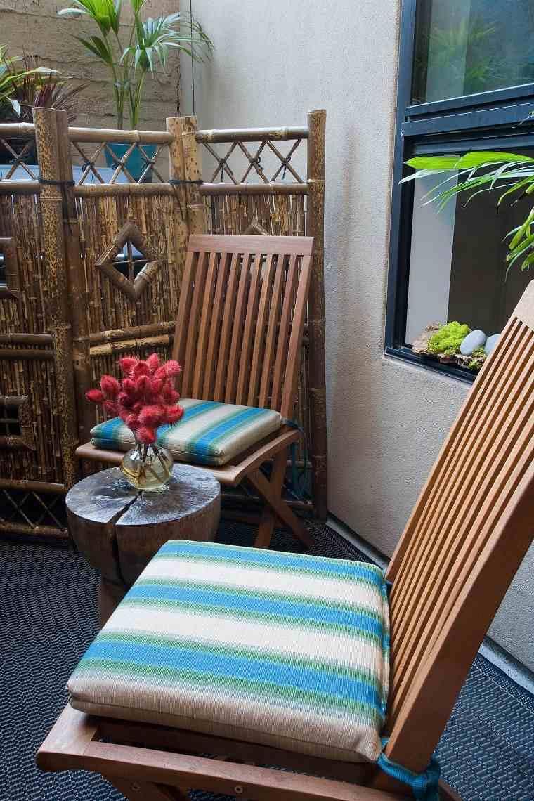 Ideas para ocultar balcón-mampara-madera