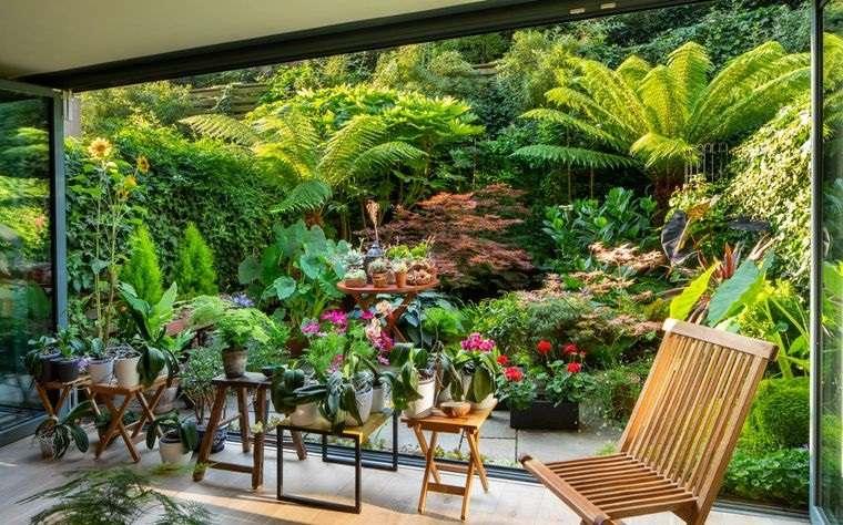 jardín tropical ambiente de calma
