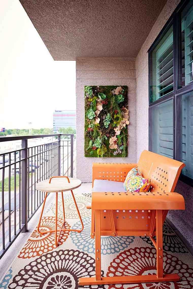 muebles para balcón-banco-naranja