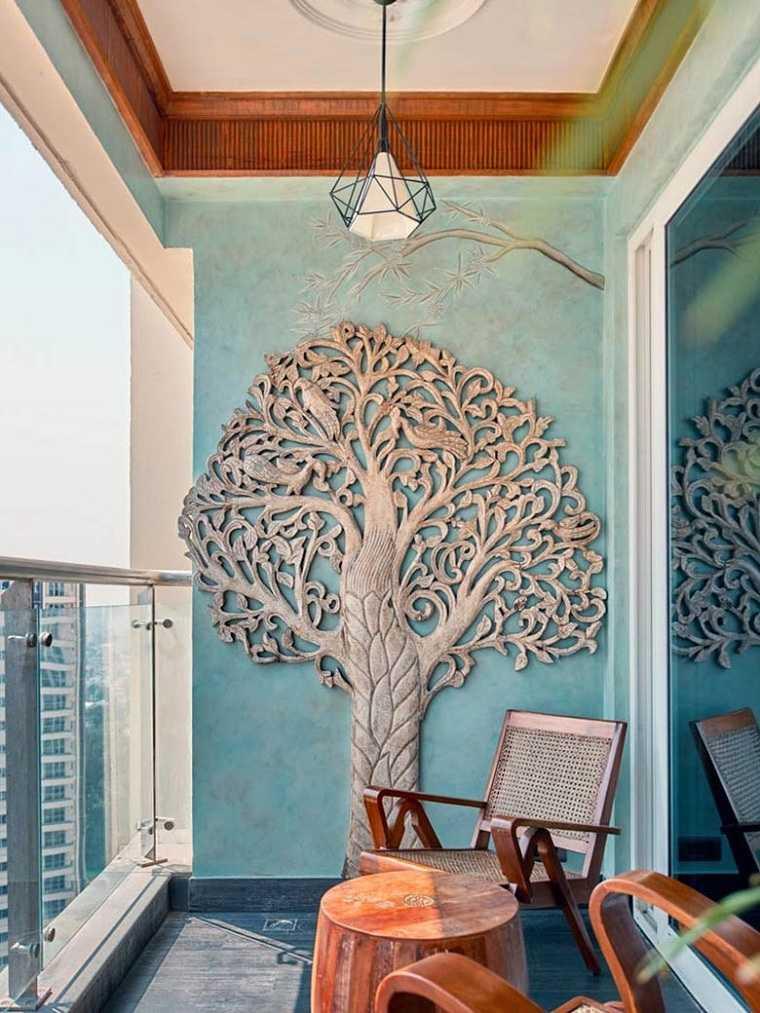 muebles para balcón-diseno-decorar-pared
