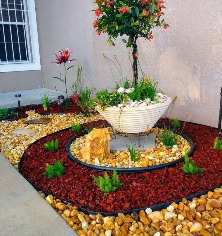 piedras decorativas de colores diferentes