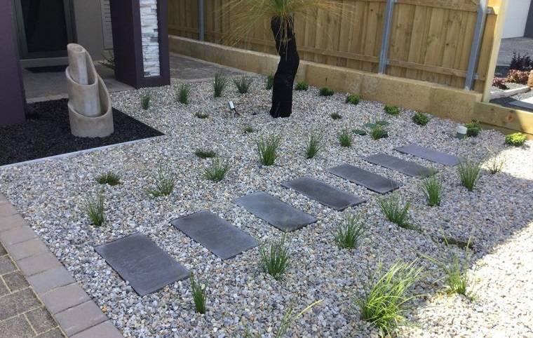 piedras decorativas para jardines minimalistas