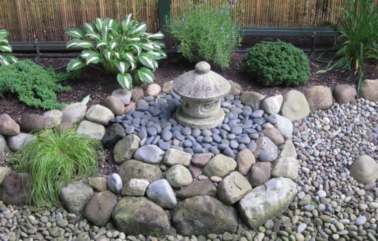 piedras decorativas para jardines relajantes