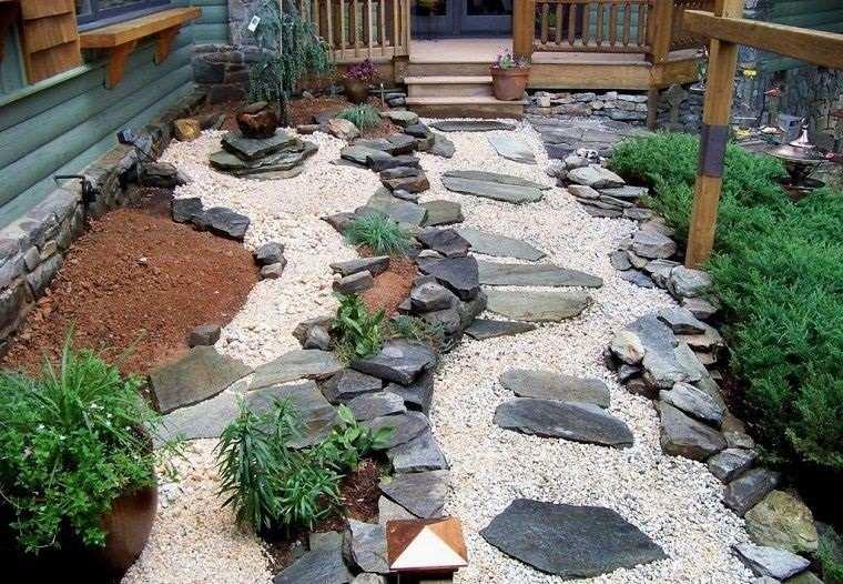 piedras decorativas para mejorar espacio al aire libre