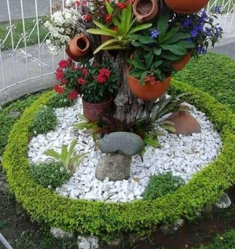 piedras decorativas protege raices de las plantas