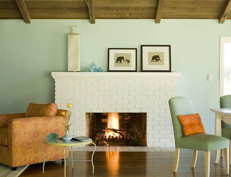 Salón rústico moderno color-sobrio-muebles