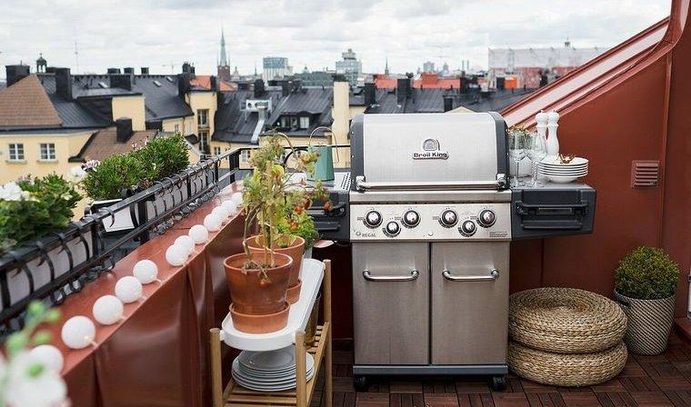 barbacoas para balcones