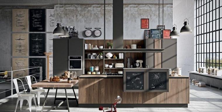 cocinas con estilo diseño industrial encantadoras