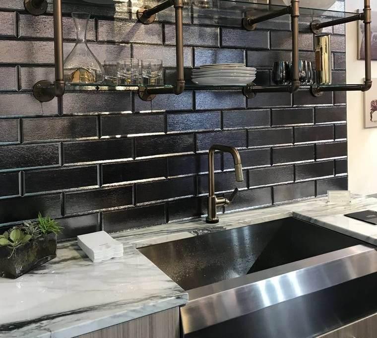 cocinas con estilo diseño industrial fregadero