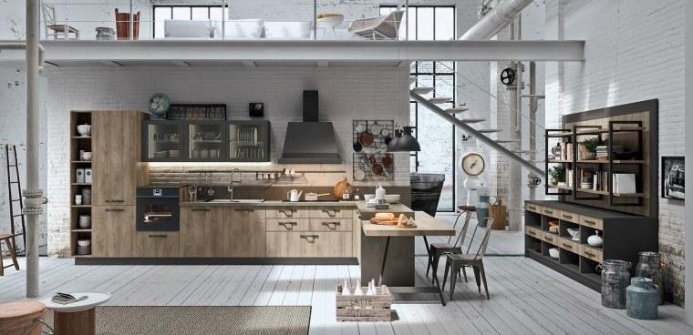 cocinas con estilo diseño industrial funcional