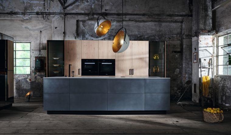 cocinas con estilo diseño industrial llamativas