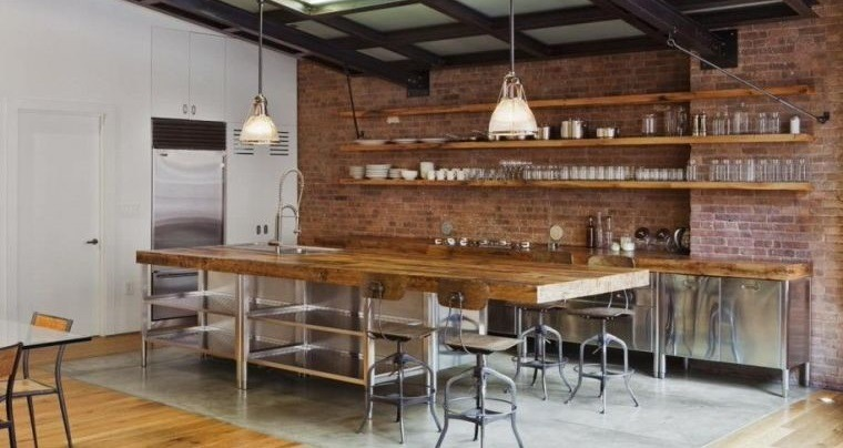 cocinas con estilo diseño industrial madera
