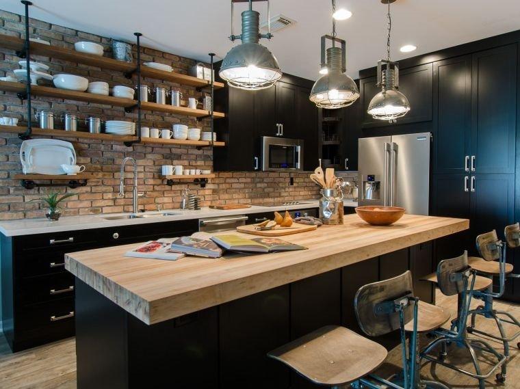 cocinas con estilo diseño industrial materiales rusticos