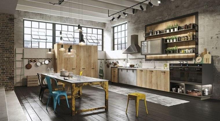 cocinas con estilo diseño industrial maximizar espacios