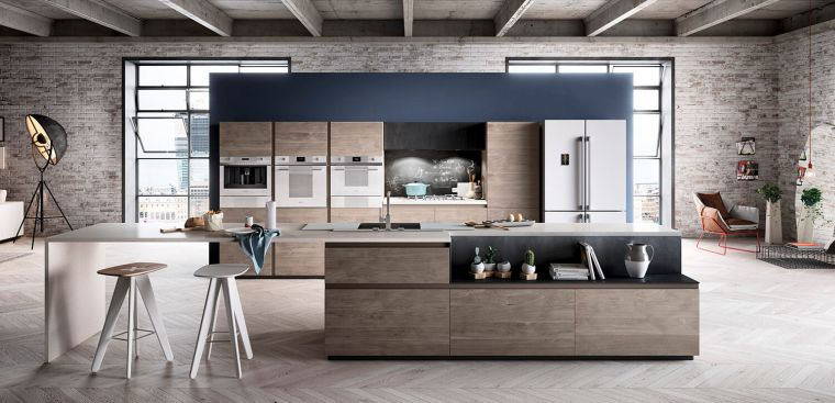 cocinas con estilo diseño industrial modero