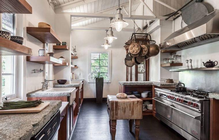 cocinas con estilo diseño industrial texturas