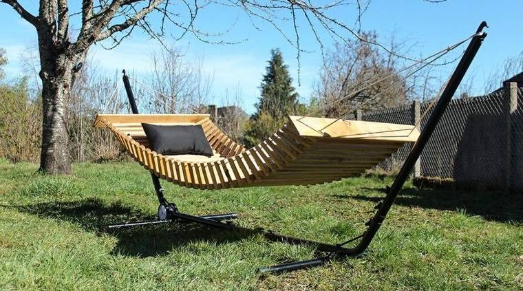 hamacas para jardín hechas de madera