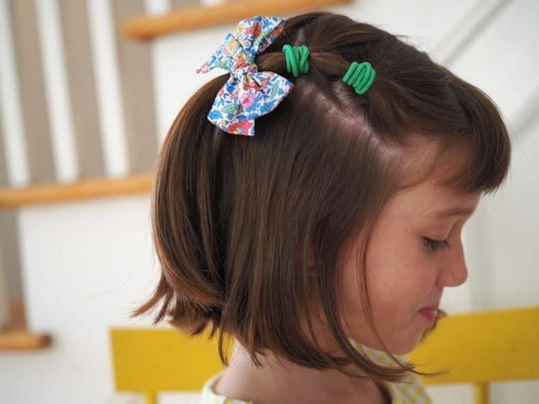 Peinados fáciles y bonitos para niñas cabello-corto
