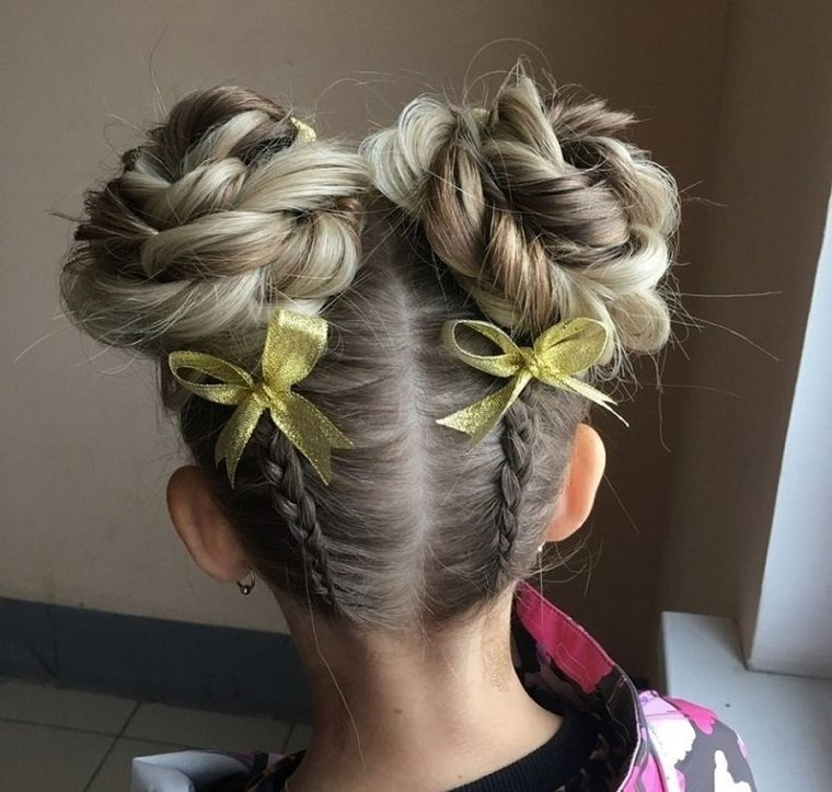 Peinados fáciles y bonitos para niñas-cabello-monos