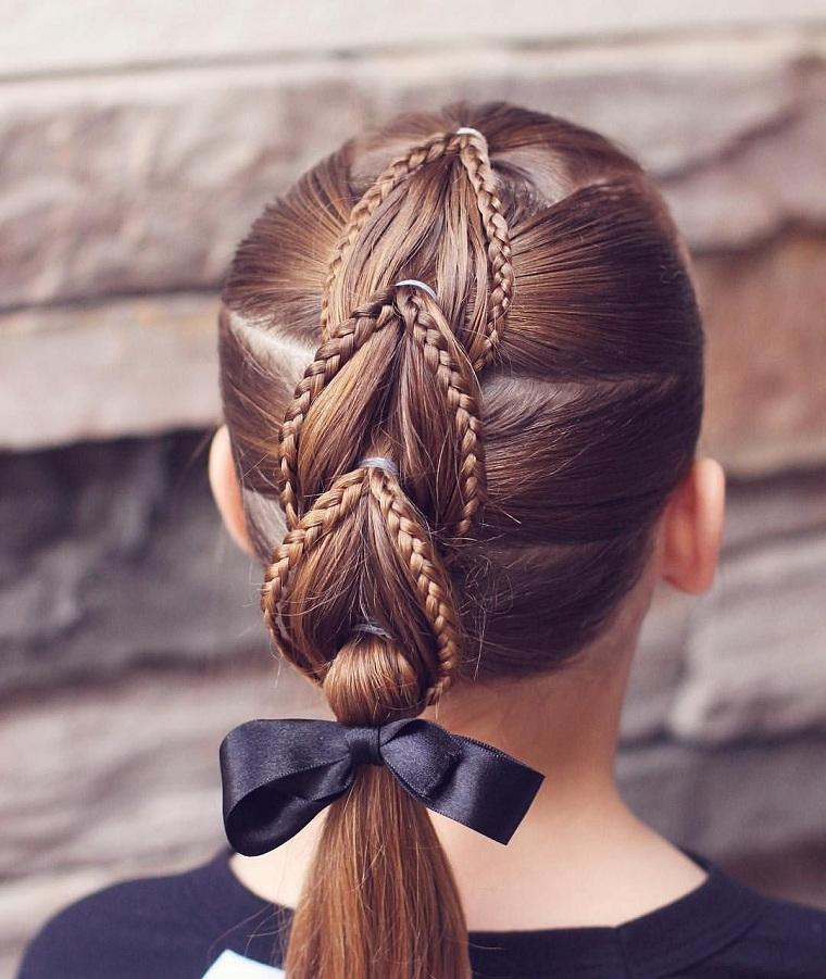 Peinados fáciles y bonitos para niñas-escuela