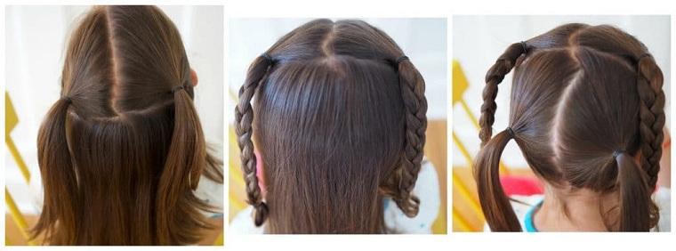 Peinados fáciles y bonitos para niñas-trenzas-cruzadas-ideas