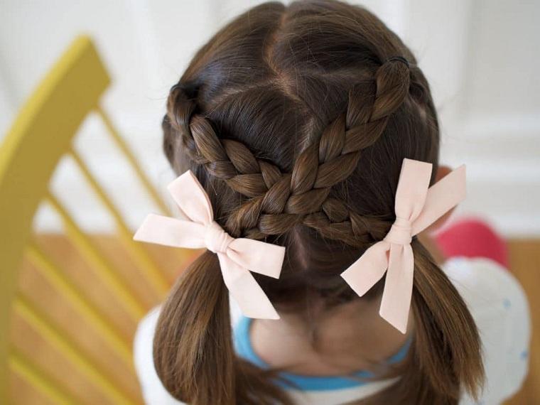 Peinados fáciles y bonitos para niñas-trenzas-cruzadas