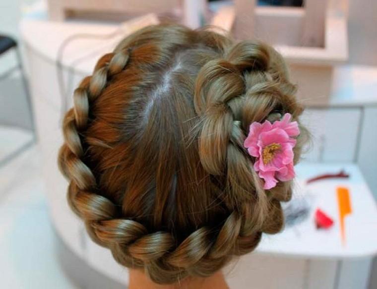 Peinados fáciles y bonitos para niñas trenzas