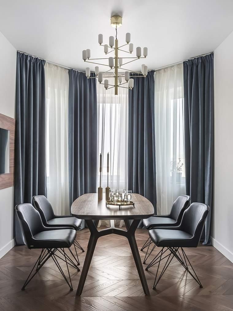 Cómo elegir cortinas colores-comedor