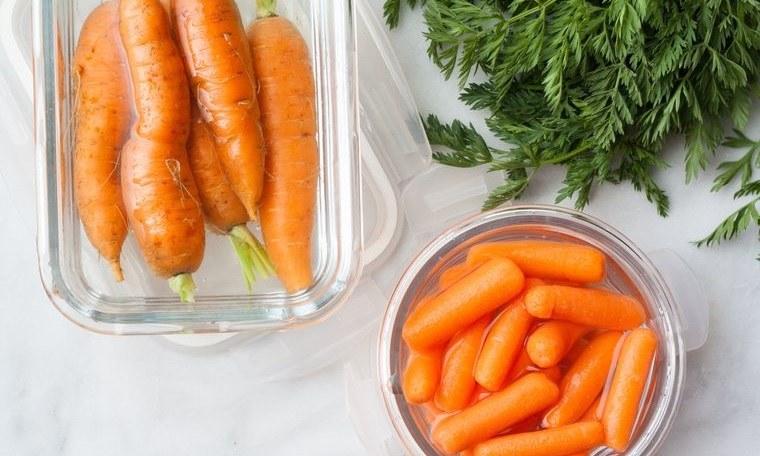 conservar zanahorias con agua