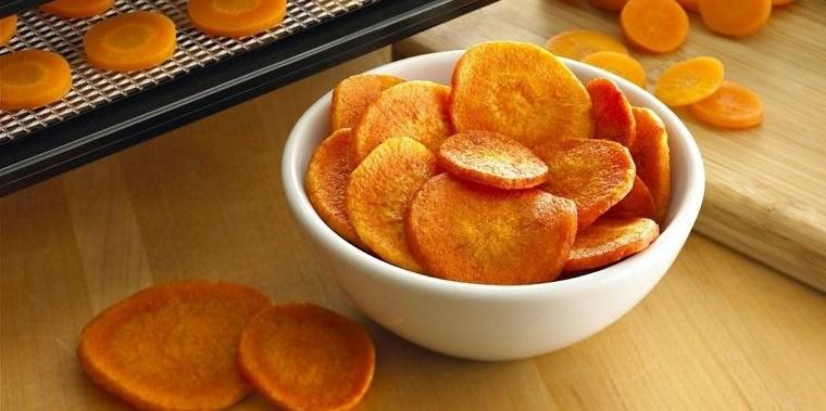 conservar zanahorias deshidratadas