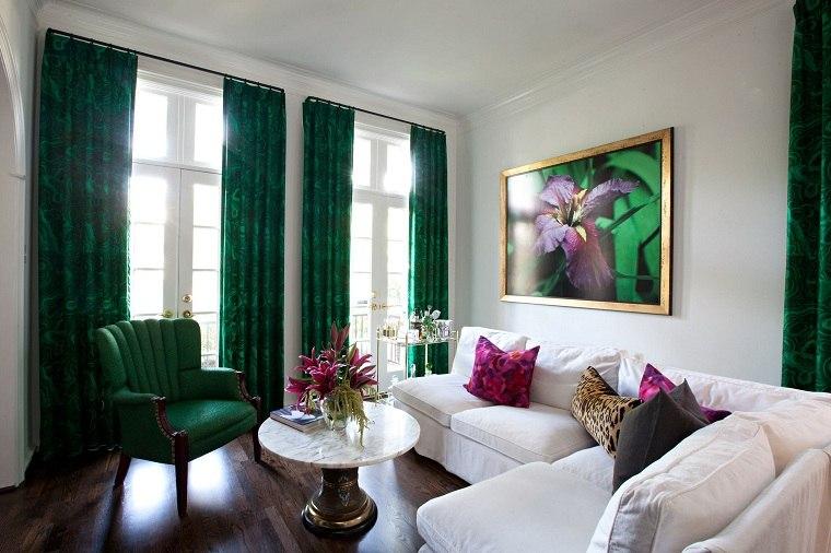 cortinas-verdes-casa-ideas