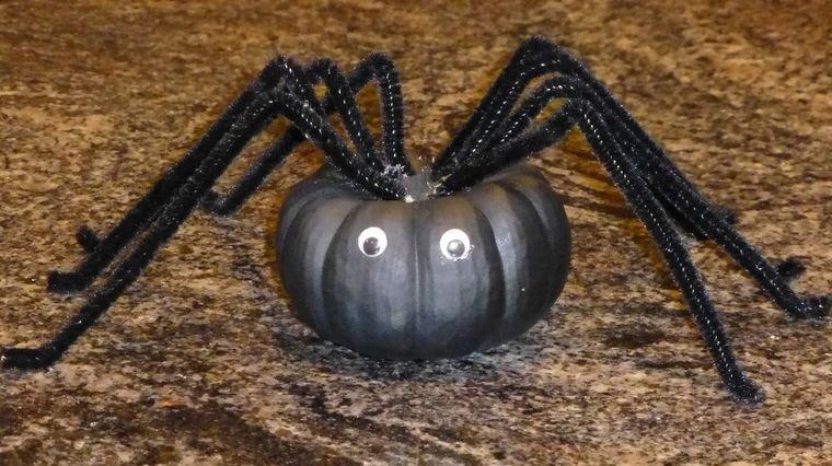 decoración de halloween araña de calabaza