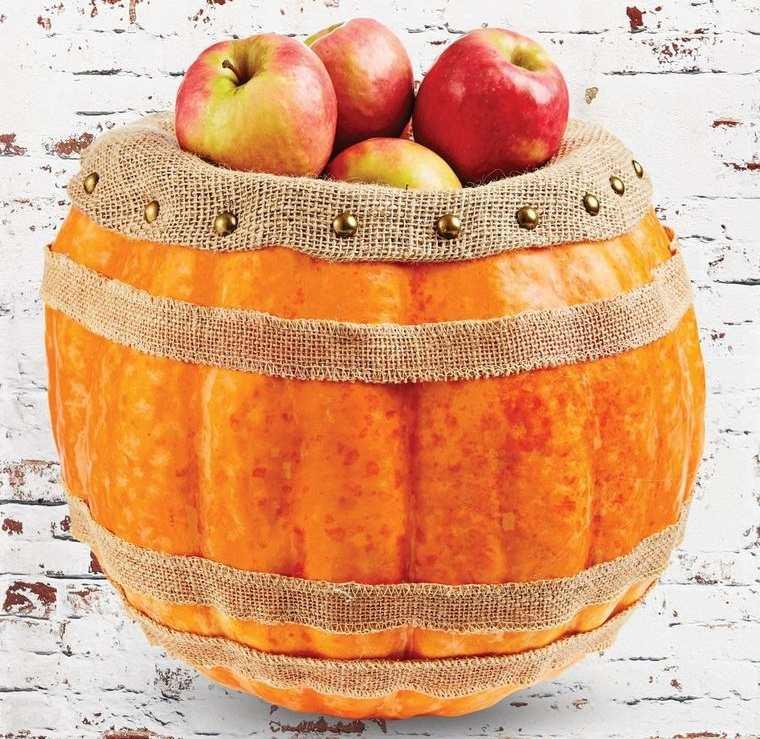 decoración de halloween barril de calabaza