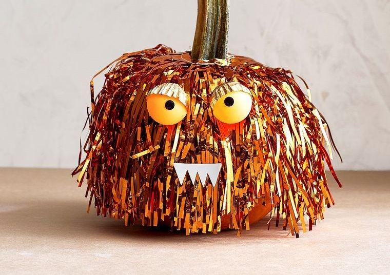 decoración de halloween manualidades calabaza original