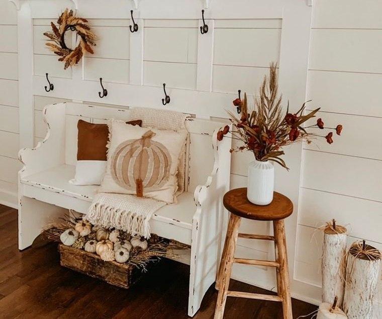 decoración otoño estilo rustico