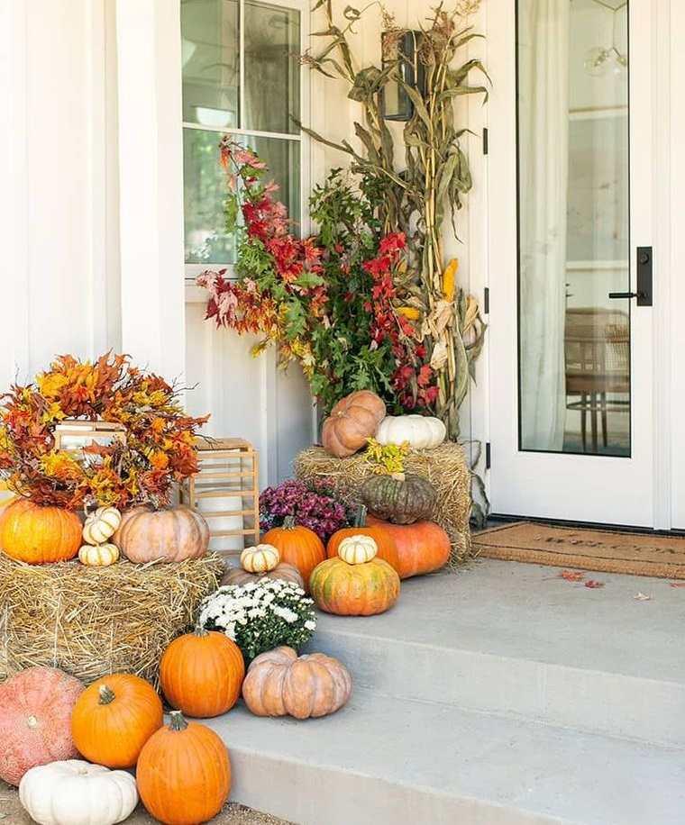 decoración otoño ideas para exteriores