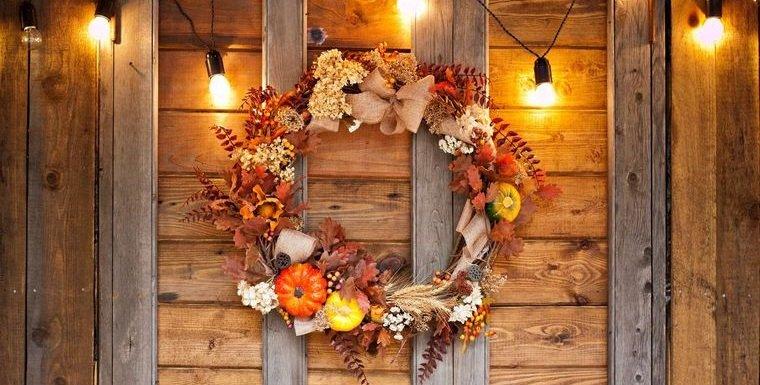 decoración otoño manualidades corona