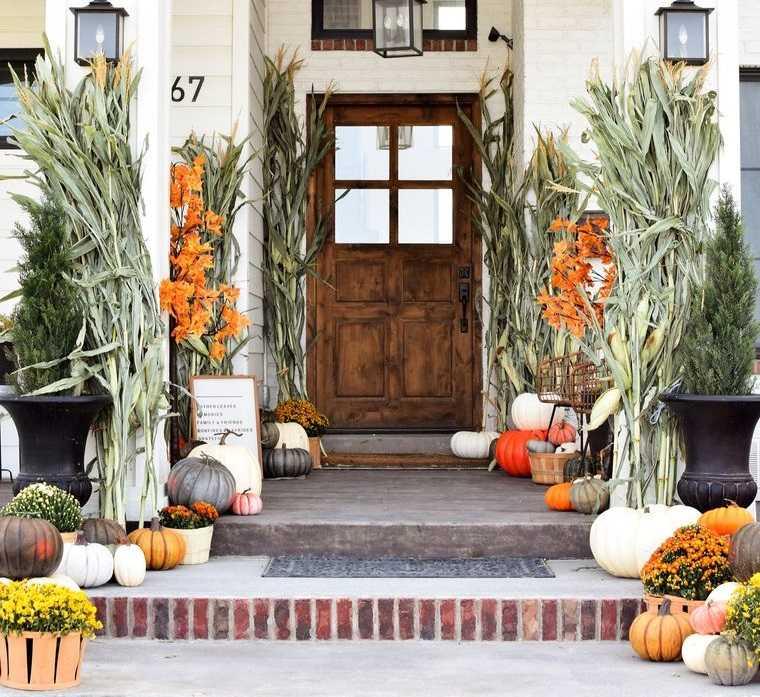 decoración otoño para entradas