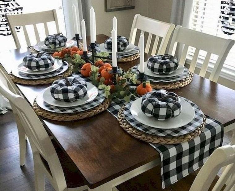 decoración otoño para mesa comedor