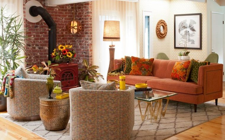 decoración otoño sencilla para sala de estar